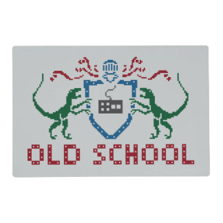 8 Bits Old School Velociraptor Placemat