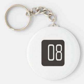 #8 Black Square Keychain