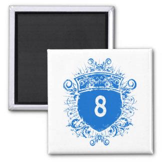 #8 Blue Shield Magnet
