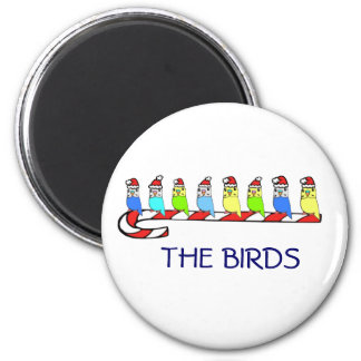 8 Budgies 2 Inch Round Magnet