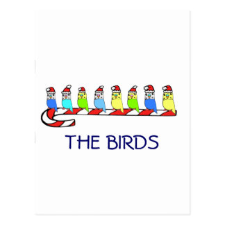 8 Budgies Post Cards