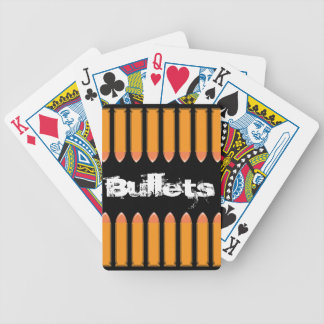 8 BULLETS on black background Bicycle Playing Cards