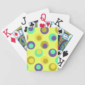 8 Color Choices Dots Bicycle Playing Cards
