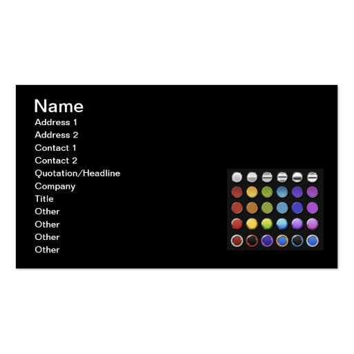 8-ColourfulGlossy Business Card Templates