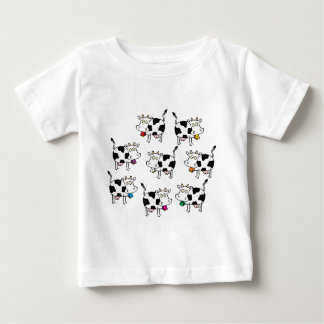 8 Cow Woman Baby T-Shirt