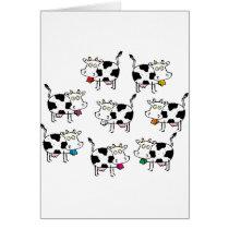 8 Cow Woman Card