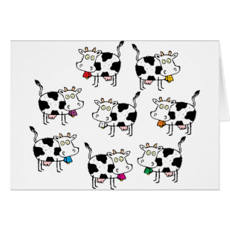8 Cow Woman Greeting Card