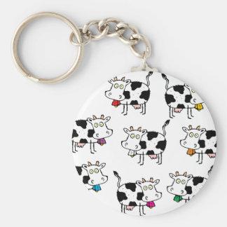8 Cow Woman Keychain