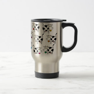 8 Cow Woman 15 Oz Stainless Steel Travel Mug