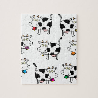 8 Cow Woman Jigsaw Puzzles