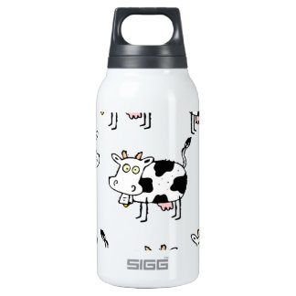 8 Cow Woman 10 Oz Insulated SIGG Thermos Water Bottle