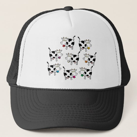 8 Cow Woman Trucker Hat