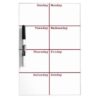 8 Days a Week Dry Erase Board