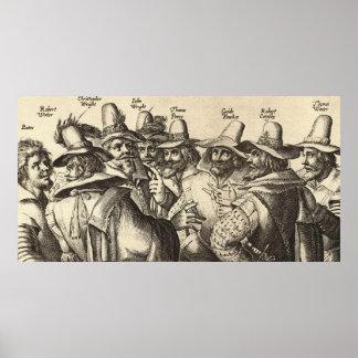 8 de 13 conspiradores Crispijn van de Passe de Gun Póster