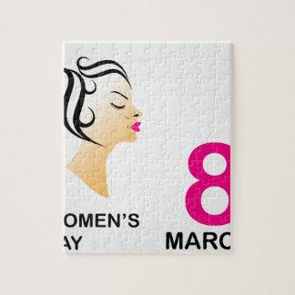 8 de marzo el día de las mujeres internacionales rompecabeza