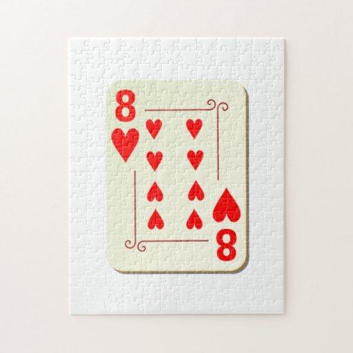 8 del naipe de los corazones rompecabezas