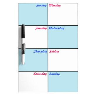 8 días un organizador de la semana pizarra blanca