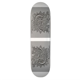 "8½"" EMBOSSED SILVER SCREEN TALONZ SKATEBOARD DECK"