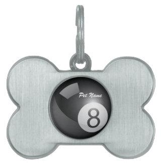 8 etiqueta del mascota de la plantilla del nombre  placas de nombre de mascota