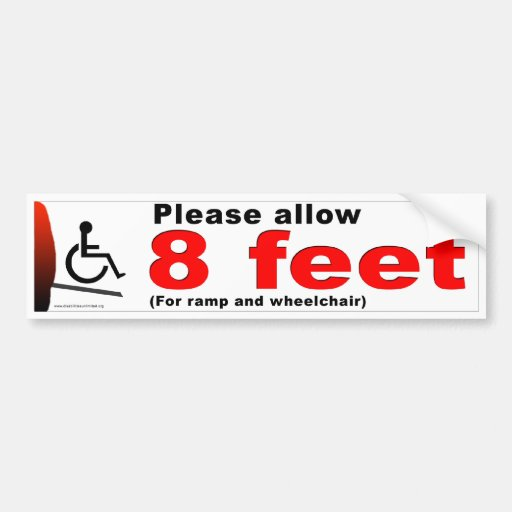8 Feet Car Bumper Sticker