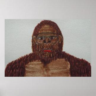 8 ft/244 cm tall Sagittal bigfoot Print