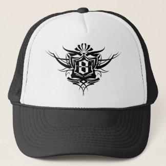 8 Gothic Tattoo number Black Trucker Hat