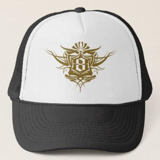 8 Gothic Tattoo number gold Trucker Hat