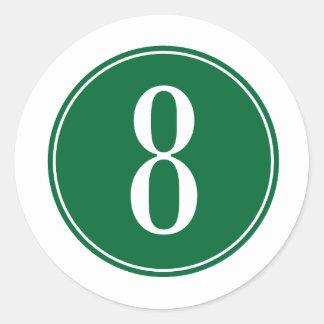 8 Green Circle Sticker