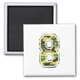 #8 Green & Yellow Camo Magnet