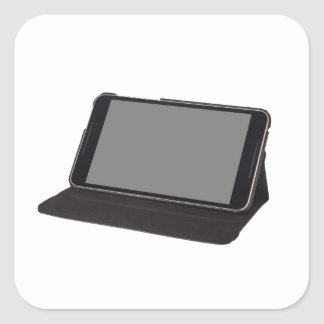 8 inch tablet on a stand square sticker