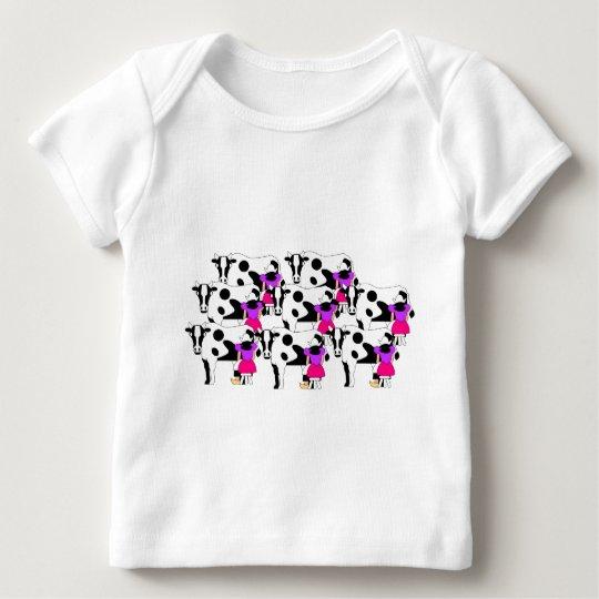 8 Maids Milking Baby T-Shirt