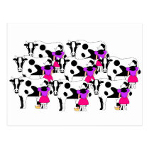 8 Maids Milking Postcard