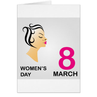 8 march International women's day Card