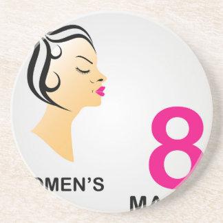 8 march International women's day Drink Coaster