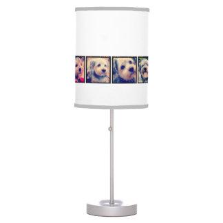 8 marcos cuadrados de Instagram del collage de la Lámpara De Mesa