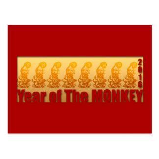 8 monos para la postal china 2016 del Año Nuevo