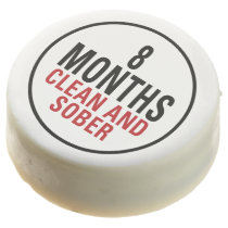 8 Months Clean and Sober Chocolate Dipped Oreo