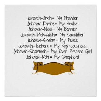 8 Names of God Poster