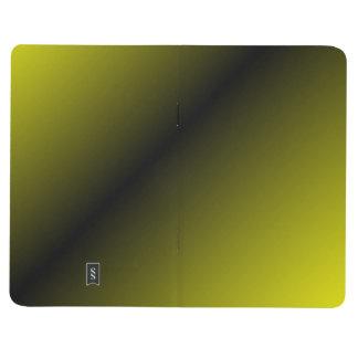 #8 negro y amarillo cuaderno grapado
