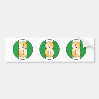 8 NIGERIA Gold Bumper Sticker