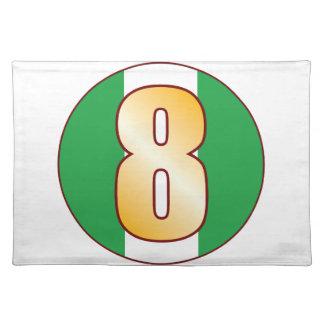 8 NIGERIA Gold Placemat