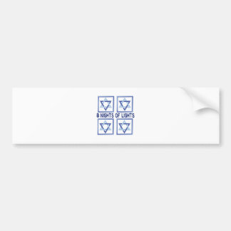 8 Nights Lights Bumper Sticker