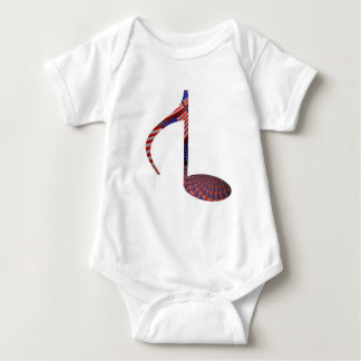 8 Note Reversed USA Flags Baby Bodysuit