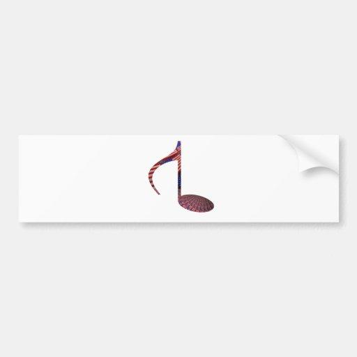 8 Note Reversed USA Flags Bumper Sticker