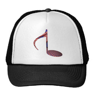 8 Note Reversed USA Flags Trucker Hat