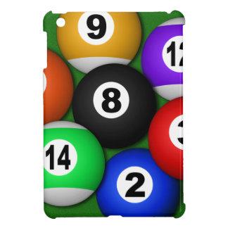 8 ocho casos del iPad de los billares de las bolas