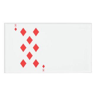 8 of Diamonds Name Tag