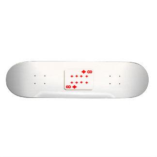 8 of Diamonds Playing Card Skate Board Decks