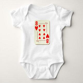 8 of Hearts Playing Card Tshirts