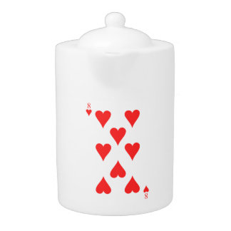 8 of Hearts Teapot
